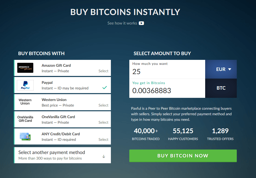 Paxful Western Union Simplex Bitcoin Buy Weirdo Eu